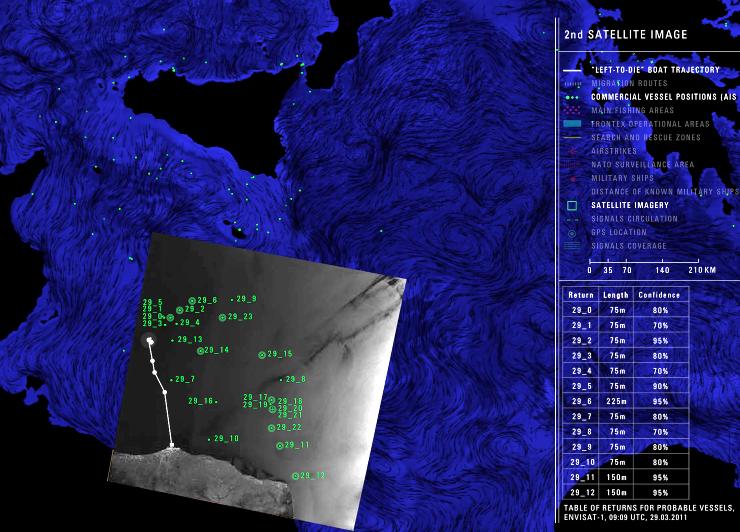 Videoinstallazione 'Liquid traces' – Heller/Pezzani/ Onlus Mediterraneo Sicilia Europa